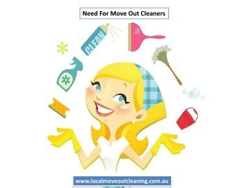 Need For Move Out Cleaners