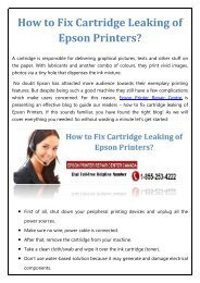 How to Fix Cartridge Leaking of Epson Printers