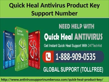 1-888-909-0535 Quick Heal Antivirus Activation Key Support Number