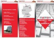 MAWOH Flyer Security - MAWOH GmbH / MAWOH Systemhaus GmbH