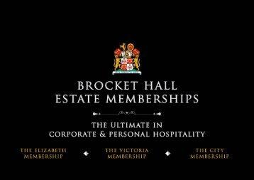 BROCKET HALL ESTATE MEMBERSHIP BROCHURE 2018