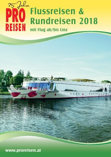 Flussreisen Flugblatt 2018