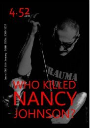 4.52am Issue: 066 11th January 2018 - The Who Killed Nancy Johnson Issue