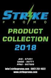 2018 STRIKE PROMO PRODUCT CATALOG