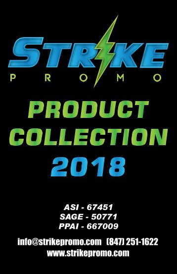 2018 STRIKE PROMO PRODUCT CATALOG