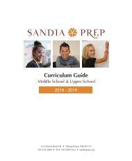 Sandia Prep Curriculum Guide 2018 - 2019