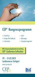 CEP® Kongressprogramm - Bundesverband für Wohnungslüftung eV