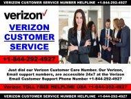 Verzion Customer Toll Free Helpline +1-844-292-4927 USA