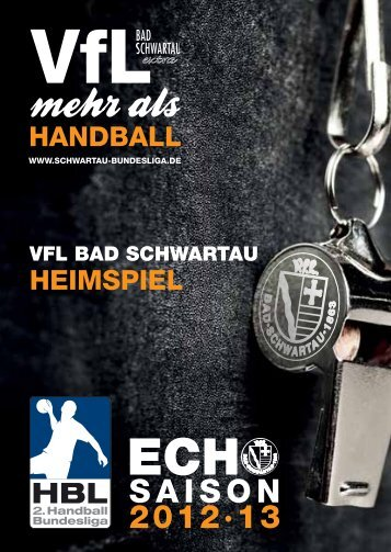 Ausgabe 05 (Download) - VfL Bad Schwartau Bundesliga Handball