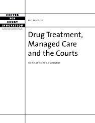 Managed Care - Center for Court Innovation