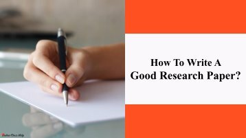 Tips For Research Paper Writing Process