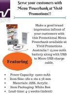 Customised Menu Powerbank - Page 2