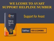Avast Technical Support Number Ireland +353-212340006