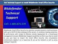 Get Technical Support to Install Bitdefender Small Office Security