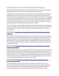 Global Vaccine Adjuvant Market