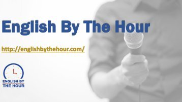 Executive Speech Coching - English By the Hour