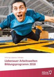 Liebenauer Arbeitswelten Bildungsprogramm 2018