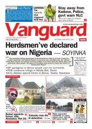 11012018 - Herdsmen've declared war on Nigeria — SOYINKA