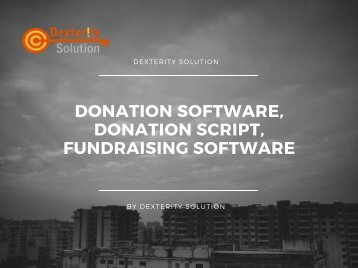 Donation software, Donation script, Fundraising software