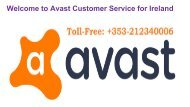 Avast Customer Service Number Ireland +353-212340006