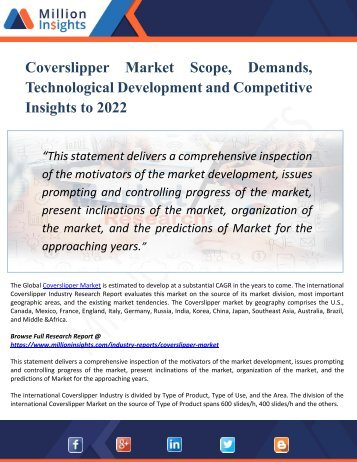 Coverslipper Market - Industry Capacity, Production, Revenue, Price and Gross Margin 2017-2022