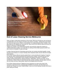 eend of Lease Cleaning Melbourne 1