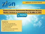 Customer Relationship Management Services Market