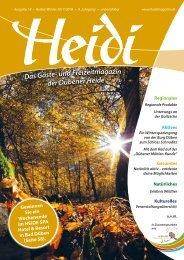 HEIDI - Gäste- und Freizeitmagazinder Dübener Heide