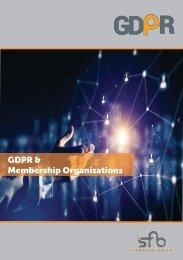 GDPR AND MEMBERSHIP ORGANISATIONS