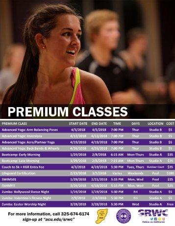 Premium Classes Spring 2018