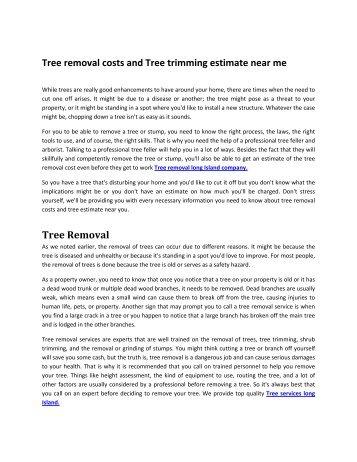 Tree removal long Island company