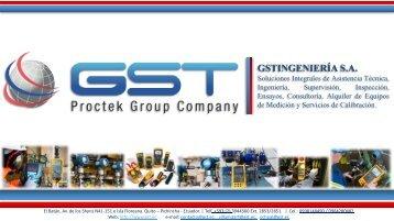 GSTINGENIERÍA S.A. Proctek Group Company 2018