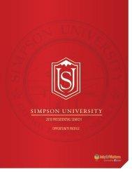 Simpson President Opportunity Profile 2018