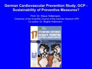 German Cardiovascular Prevention Study, GCP ... - HPH-Conference