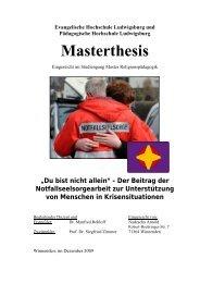 Masterthesis - Notfallseelsorge in Deutschland