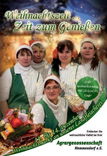 Weihnachtlich genießen in unserer Landfleischerei
