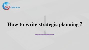 How to write strategic planning?