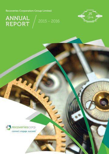 Recoveries Corporation Group Limited Annual Report 2015-2016