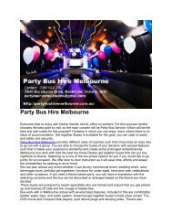 Party Bus Hire Melbourne 1