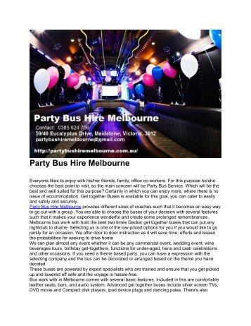 Party Bus Hire Melbourne 1