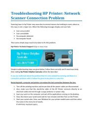 Troubleshooting HP Printer: Network Scanner Connection Problem