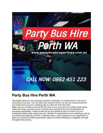 Party Bus Hire Perth WA 1