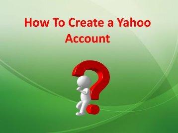 How To Create a Yahoo Account?