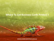 Where To Get Business Cards Printed ?