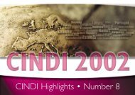 CINDI Highlights • Number 8 - Health Promotion Agency