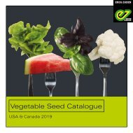 Vegetable Seed Catalogue USA & Canada 2019
