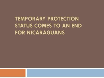 Temporary Protection Status Comes to an End for Nicaraguans