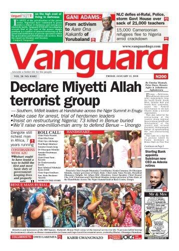 12012018 - Declare Miyetti Allah terrorist group