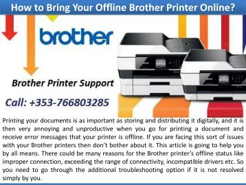 How to Bring Your Offline Brother Printer Online?