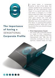 The Importance of having a sensational Corporate Profile.
